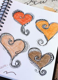 Art Journal - Zenspirations Heart Patterns | Flickr - Photo Sharing!