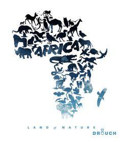 'Africa Logo' by Derouiche salaheddine on artflakes.com as poster or art print $16.63