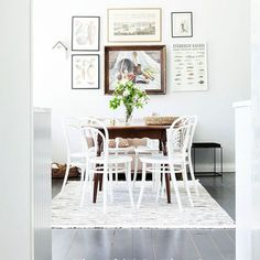 Home décor and clothing accessories from Tikau and other beautiful and ethical brands. Marine Carpet, Friends Instagram, Wool Carpet, Scandinavian Design, Dining Table, Photo And Video, Carpets, Interior, Stripes