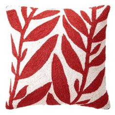 Peking Handicraft: Hand-Hooked Pillows & Rugs - Seaweed Pillow 18x18, $38, now featured on Fab.
