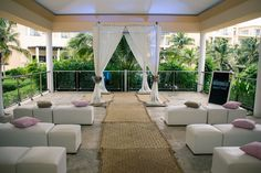 The Garden is a beautiful spot for a ceremony! It can fit 10 - 120 people! #NowJadeRivieraCancun #Mexico #DestinationWedding