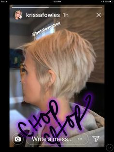 Yes yes Yes next haircut....Jan 2018