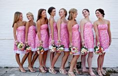 pink and orange wedding_012 Lilly Pulitzer wedding  #bridesmaids #noteworthy #noteworthync