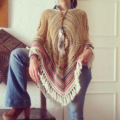 Poncho's ~Feito à mão em Crochet  75
