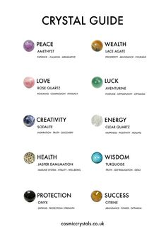 crystal healing Check out our crystal meanings guide to discover all about healing crystals. Find yours at Crystal Healing Chart, Crystal Guide, Healing Crystal Jewelry, Crystals For Healing, Wicca Crystals, Crystals For Manifestation, Crystal Necklace, Crystal Magic, Chakra Crystals