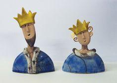 Jane bygrave ceramics king & queen