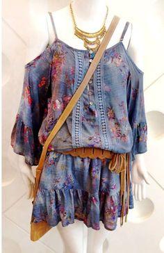 Molde Vestido Ciganinha, com este molde você pode fazer mais de dois modelos de vestidos e blusas