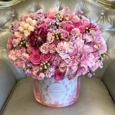 Flower power inspiration for you today! Double tap & TAG who you think would li. Shade Flowers, My Flower, Pink Flowers, Beautiful Flowers, Beautiful Flower Arrangements, Floral Arrangements, Flower Boutique, Different Shades Of Pink, Luxury Flowers