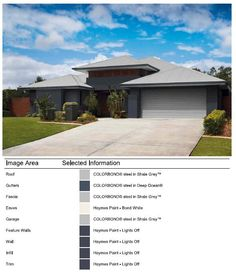 Exterior - Facade - Colour selection done with Colorbond Online Visualiser