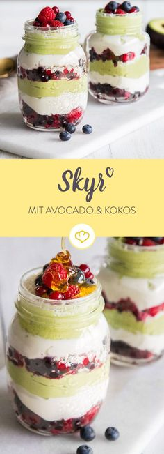 Du willst fit in den Tag starten? Mit der Melange aus Avocado-Mousse, Skyr und e… You want to start your day fit? The mousse of avocado mousse, skyr and a gentle coconut note will keep you full and happy for several hours. Avocado Dessert, Paleo Dessert, Authentic Mexican Recipes, Mexican Food Recipes, Avocado Superfood, Avocado Mousse, Detox Recipes, Smoothie Recipes, Paradis Du Fruit