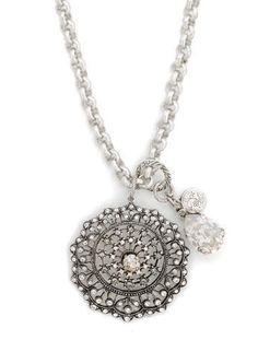 Your Paris Market - Catherine Popesco Silver Round Necklace