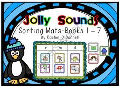 Jolly Sounds Picture Sort Mats from Rachel O Donnell on TeachersNotebook.com -  (60 pages)  - This Jolly Phonics inspired product has sorting mats for the following sounds: s a t i p n ck e h r m d g o u l f b ai j oa ie ee or z w ng v oo oo y x ch  sh th th qu ou oi ue er ar