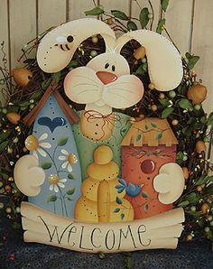 #79 Buzz On Inn Bunny Wreath (Pattern Packet)