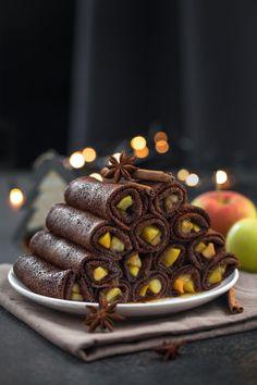 Čokoládové palacinky s karamelizovanými jablkami | Recepty.sk