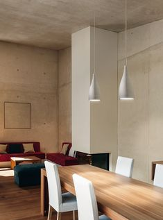 Moderne Beton Pendelleuchte, Ø 14 cm