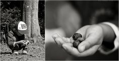 "Use Diptychs to Tell a Story  by Jason Weddington. Photo: Jason Weddington ""By using a zoom lens, or simply cropping a larger photo, you can combine two images that have different effective focal lengths. This can be used to complete the story and prevent the viewer from asking 'what's going on here,' like in this photo of my son collecting acorns in a park."" Read more: http://digital-photography-school.com/use-diptychs-to-tell-a-story#ixzz2LShWHocw"