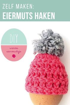 Create an adorable Easter Egg Hat with pompom with this easy and free crochet pattern tutorial! Crochet Egg Cozy, Easter Crochet, Free Crochet, Crochet Hats, Craft Projects For Adults, Crafts For Kids, Easter Religious, Easter Crafts, Crochet Patterns