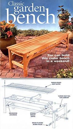 DIY Garden Bench - Outdoor Furniture Plans and Projects | WoodArchivist.com