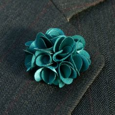 boutonniere with lapel pin | Handmade Flower Boutonniere Wedding Mens Lapel Pin Fashion Accessories ...