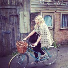 Taking my shiny blue bike for a ride in Edinburgh's wild west #cyclechic #vintage #bike #cycle #basket #Edinburgh #pedal http://www.wheellovegirl.com/