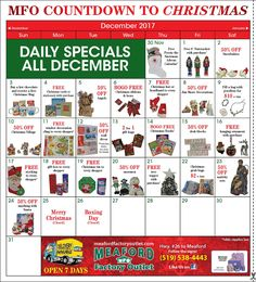 Check out all the amazing deals in December at Meaford Factory Outlet and the Great Canadian Retail Outlet.
