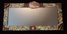 Exotic Colored Sea Shell Beveled Mirror approx by ArtiseaShellArt, $600.00