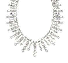 AN EDWARDIAN DIAMOND NECKLACE/TIARA