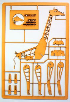 High-rise Giraffe Laser Cut. £25.00, via Etsy.