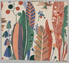 Phantasus, ca.1939 designer Bruno Paul (German, 1874-1968) plain weave cotton, printed. Bruno Paul (19 January 1874 – 17 August 1968) was a German architect, illustrator, interior designer, and furniture designer.