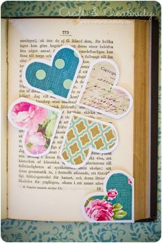 diy super easy heart bookmarks