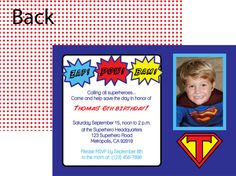 Comic Book Superhero digital birthday party invitation- print your by A Party Studio on Etsy, only $15.00