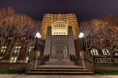 Entrance to The Purdue Memorial Union - Purdue University - West Lafayete, IN