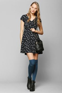 Band of Gypsies Button-Up Swing Dress #urbanoutfitters
