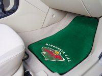 Minnesota Wild 2pc Carpet Car Mat Set. $29.99 Only.