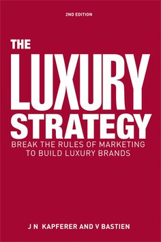 •	Identifies the rules for marketing luxury products and implementing a luxury strategy •	Provides the depth required to master luxury marketing strategies •	Includes coverage of human resources and financial management in the luxury space