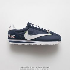89a6db6d0a91 Specials Creative Bespoke Virgil Abloh Designer X Nike Classic Cortez  Leather Vintage First Leather Jogging Shoes Ow Vivid Turq