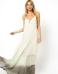 ASOS Maxi Dress In Dip Dye