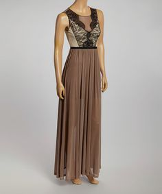Look what I found on #zulily! Nude Victoria Maxi Dress by Kaii #zulilyfinds