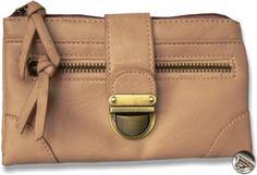 Dámska peňaženka kožená s prackou, bledo hnedá 10447 www.vasepenazenky.sk