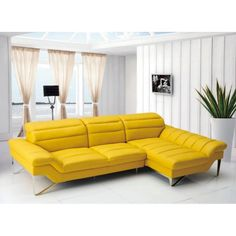 Divani Casa Leven Modern Leather Sectional Sofa - Sectional Sofas at Hayneedle