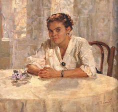 "Божий Михаил Михайлович (1911-1990)  ""За столом."" 1956 г."