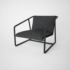 Armchair ACE01 by ROMP #romp #design #furniture #metal #black #comfort # armchair