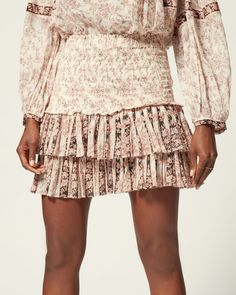 Are you looking forSHORT SKIRT Women by Isabel Marant? Find out all the details on our official online store and shop now your fashion icon. Isabel Marant, Short Skirts, Printed Cotton, Smocking, Style Icons, Shop Now, Sequin Skirt, Model, Store
