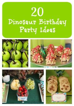 We've put together a list of 20 dinosaur birthday party ideas full of delicious treats, fun party favors, and decorations. Hopefully this list will help you plan the best dinosaur birthday party ever. Birthday Party Treats, 6th Birthday Parties, 1st Boy Birthday, Theme Parties, Dinosaur Food, The Good Dinosaur, Dinosaur Party Foods, Dinosaur Party Decorations, Dinasour Birthday