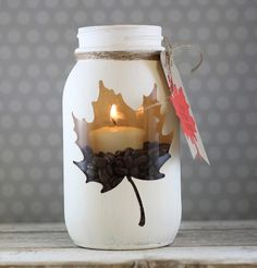 15 Awesome DIY Mason Jar Lights to Make Your Home Look Beautiful More from my site 12 DIY Christmas Mason Jar Lighting Craft Ideas [Picture Instructions] DIY Candles – Candle Making Tutorials For Everyone Hanging mason jar wall sconce Diy Mason Jar Lights, Fall Mason Jars, Mason Jar Candle Holders, Mason Jar Candles, Mason Jar Crafts, Mason Jar Diy, Bottle Crafts, Coffee Jar Crafts, Diy Projects Mason Jars