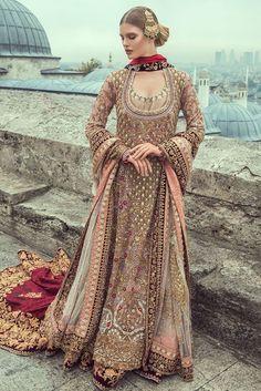 Latest Bridal Sharara Designs for Bride 2018 - Beauty Stylo Pakistani Wedding Outfits, Pakistani Bridal Dresses, Bridal Outfits, Indian Dresses, Indian Outfits, Bridal Gowns, Sharara Designs, Outfit Essentials, Bollywood