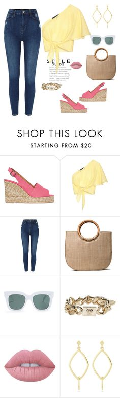 """""""Comfy & Stylish look"""" by dalba77 ❤ liked on Polyvore featuring Castañer, Anna October, River Island, CÉLINE, Versace, Lime Crime, Laundry by Shelli Segal, casual and oneshoulder"""
