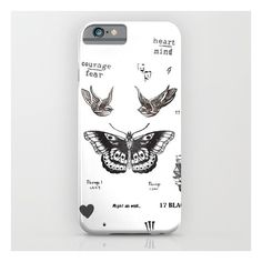 Tattoo à La Harry iPhone & iPod Case ($35) ❤ liked on Polyvore featuring accessories, tech accessories and iphone & ipod cases