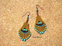 Macrame earrings tutorial by Very Bijoux