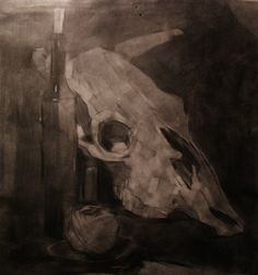 """""""Still life with a cow scull"""". Graphics. 2014. on Behance"""